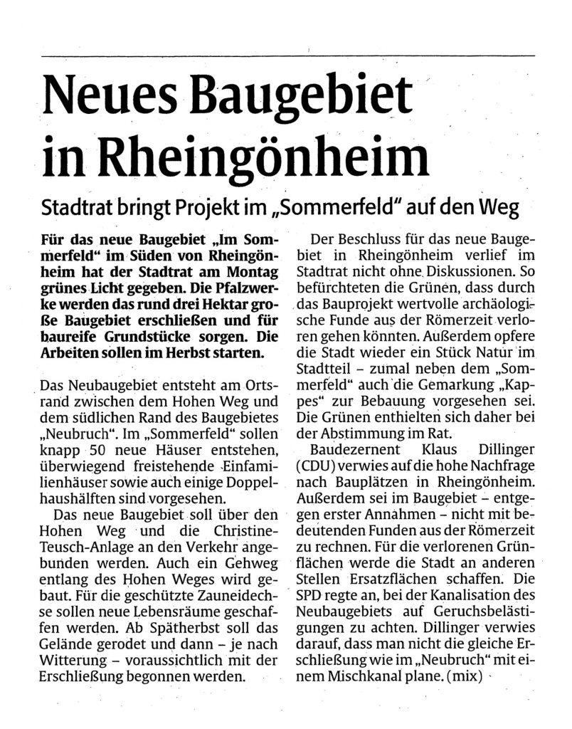 Reisch Gruppe Presse Im Sommerfeld Rheingönheim 1